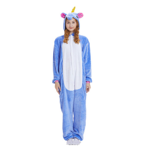 Blue Unicorn Onesies Kigurumi Adult Animal Costume Pajama