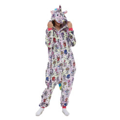 Colorful Adult Unicorn Onesie Kigurumi Pajamas Animal Costumes with Hooded