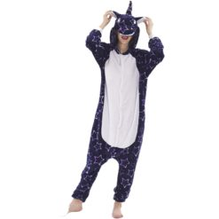Deep Blue Star Kigurumi Onesie Pajamas Animal Costumes for Women Men