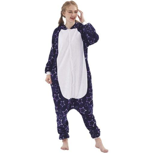 Deep Blue Star Kigurumi Onesie Pajamas Animal Costumes for Women Men