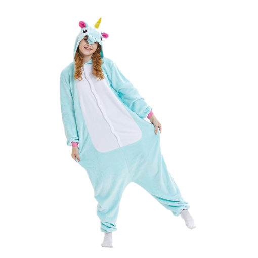 Light Green Unicorn Onesie Kigurumi Adult Kid's Animal Onesie Costume Pajama