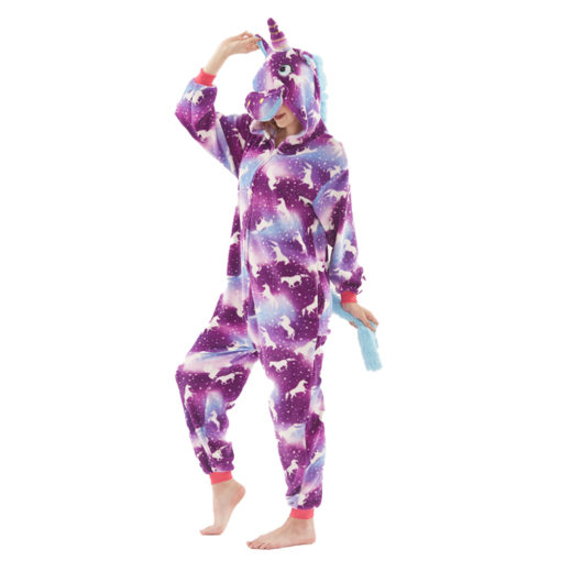 Purple Dream Unicorn Kigurumi Animal Onesie Pajamas Costumes for Women & Men
