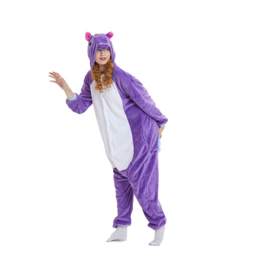 Purple Unicorn Onesie Kigurumi Adult Animal Costume Pajama