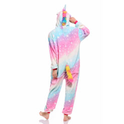 Rainbow Unicorn Onesie for Adult Kids Pastel Hologram Kigurumi Onesie