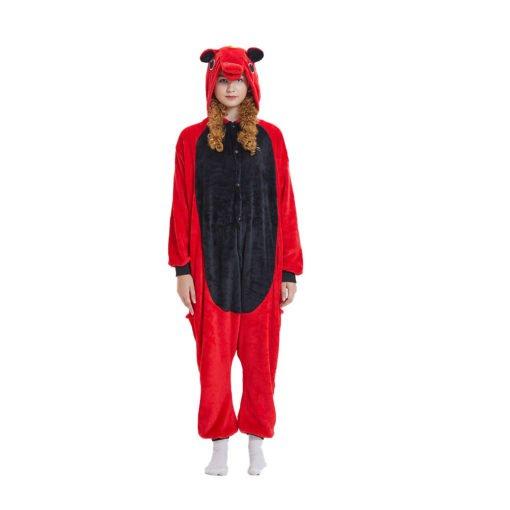Red Unicorn Onesie Kigurumi Costumes Pajama Onesies