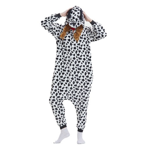 Spotted Dog Onesie Animal Pajamas Adult Kigurumi Party Costumes