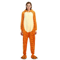 Winnie the Pooh Tigger Onesie Cute Costume Animal Onesie Pajamas For Adult