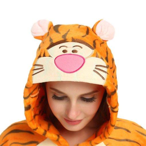 Winnie the Pooh Tigger Onesie Cute Costume Animal Onesie Pajamas For Adult