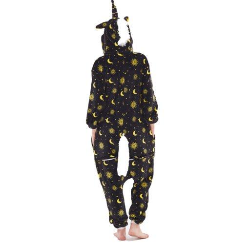 Yellow Star Unicorn Onesie Pajamas Unicorn Kigurumi for Adult