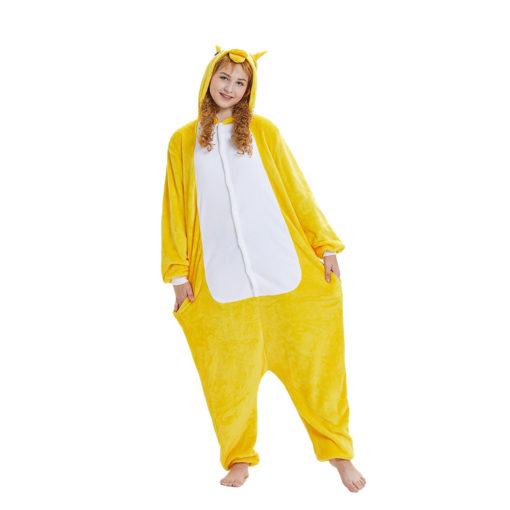 Yellow Unicorn Kigurumi Onesie Pajamas Animal Costumes For Women & Men