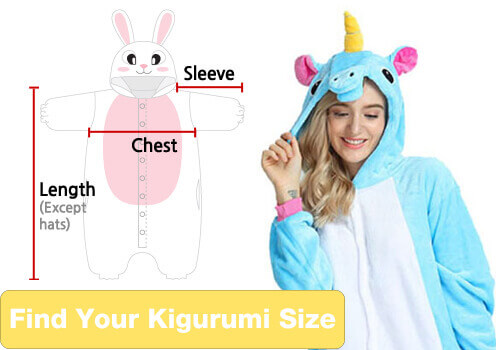 find your kigurumi size