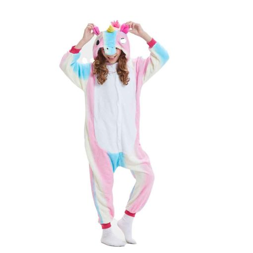 girls rainbow unicorn onesie