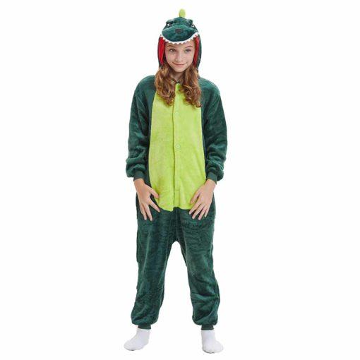 green dinosaur onesie