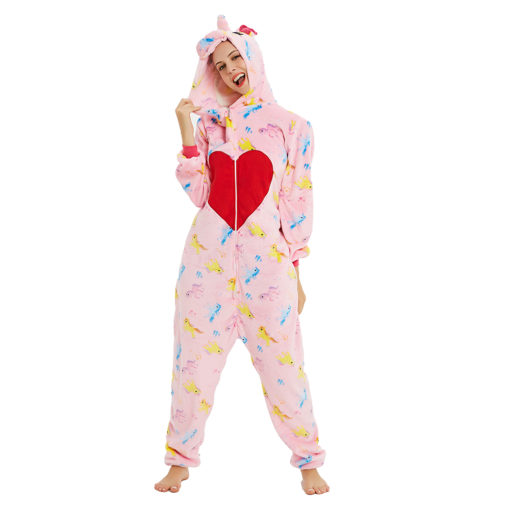 red heart unicorn onesie
