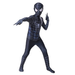 black spiderman suit