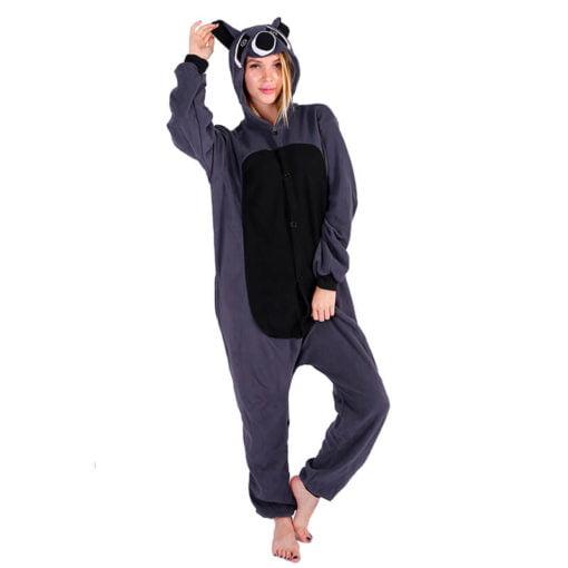 raccoon onesie