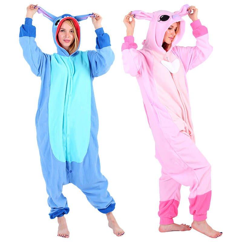 Lilo And Stitch Kigurumi Onesie Pajamas Animal Costumes For Adult Teens